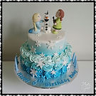 2 tier Disney Frozen Cake