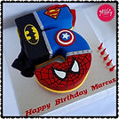 Gluten free, dairy free, nut free, egg free superhero cake