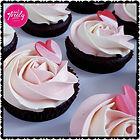 Gluten free chocolate mud cupcakes to celebrate an upcoming wedding.