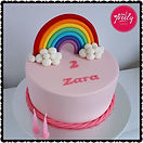 Gluten Free Fondant Rainbow Cake