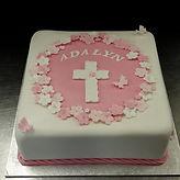 Gluten Free Christening Baptism Cake