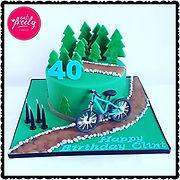 Mountain Bike 40th Birthday Cake