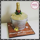 Champage Bottle Bucket Cake