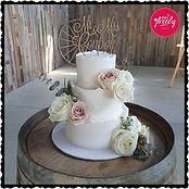 Vegan and Gluten free chocolate wedding cake