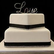 Love/Diamante Gluten Free Allergy Friendly Wedding Cake