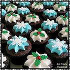 Mini Gluten Free, Dairy Free Christmas Cupcakes