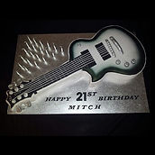 Mitch's Electric Guitar Cake