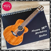 Fender Accoustic Guitar Cake
