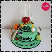 Aussie Sports Cake