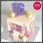 16th Birthday Marble Cake iced in Swiss Meringue Buttercream