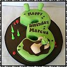 Gluten Free, Dairy Free Shrek Cake