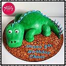 Cute Dinosaur Birthday Cake