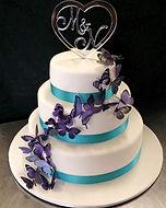 Butterfly Gluten Free Low FODMAP Wedding Cake