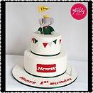 Babar the Elephant themed gluten free chocolate mud birthday cake