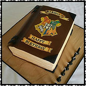 Harry Potter Spell Book Cake