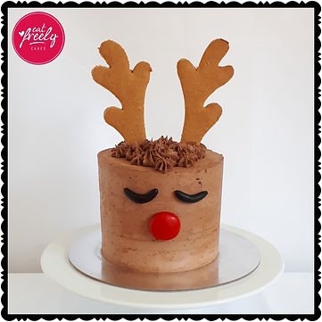 Rudolph the Red Nosed Reindeer Christmas Cake