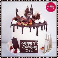 Gluten Free and Dairy Free Chocolate mud drip cake