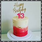 Pretty White, Pink & Gold 13th Birthday Cake