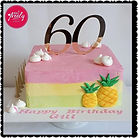 Gluten Free, Dairy Free Tropical themed Birthday Cake