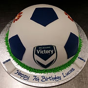 Melbourne Victory Gluten Free Soccer Ball Cake