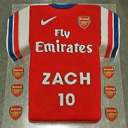 Gluten Free Arsenal FC Jesey Cake