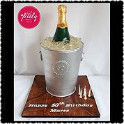 A Veuve Clicquot Champagne Bucket Cake