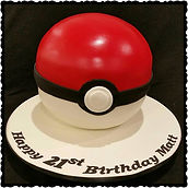 Matt's Pokeball Cake