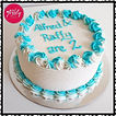 Alfred & Raffy's 2nd Birthday Cake. A de