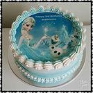 Disney Frozen image cake