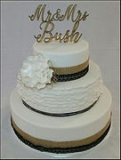 Mr & Mrs Bush Wedding Cake