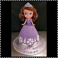 3D Sofia the First cake