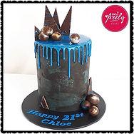 Galaxy themed 21st birthday cake