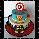 Gluten Free Dairy Free Superhero Cake