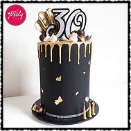 Gluten Free white chocolate mud and caramel 30th birthday drip cake