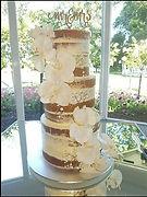 Semi Nude White Mud Wedding Cake