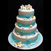 Beach Themed gluten free Wedding Cake