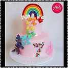 Rainbow & Butterfly Birthday Cake