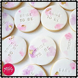 Personalised bridal shower vanilla butter cookies