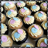 Baby Shower Button Cupcakes