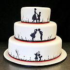 Gluten Free Silhouette Wedding Cake