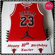 Michael Jordan Chicago Bulls Basketbal Jersey Cake