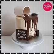 Gluten Free Coffee Mug Drip Cake
