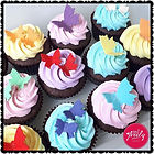 Bright and colourful gluten free butterfly cupcakes