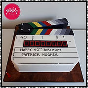 Patrick's 40th Movie Clapboard Cake