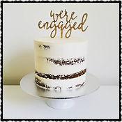 Semi nude gluten free Engagement Cake