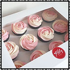 Gluten Free Pink and White Rose Swirl Cupcakes