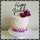 Orchid Buttercream Birthday Cake