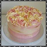 Two tone rosette swirl cake gluten free