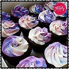 Pretty, swirly, gluten free chocolate mud cupcakes