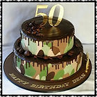 Camouflage 50th Birthday Cake